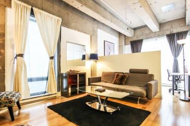 Appartement 2 chambres à louer aux lofts Saint-Alexandre