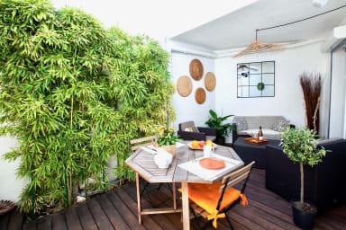 Terrasse calme et relaxante à Montpellier