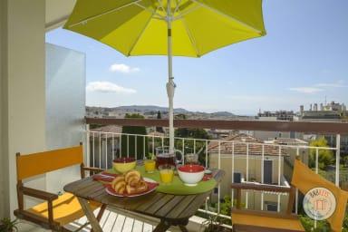 Appartement moderne rénové avec balcon à Nice