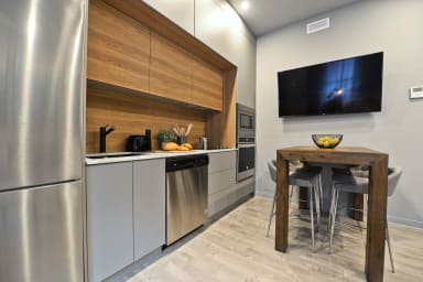 Apartment for a group of 4 fully furnished, equipped kitchen