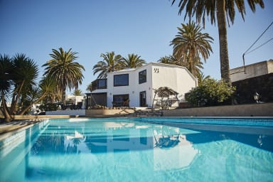 Haupthaus Casita Palmera in Haría mit beheiztem Pool