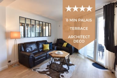 ❤️ HEARTTHROB ❤️ Architect-designed, 10 minutes walking from the Palais