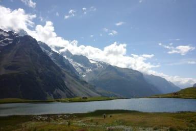 Lac du Pontet et on se baigne en été