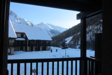 La vue du balcon... en hiver