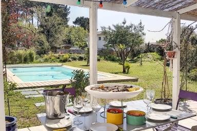 Maison piscine 8 pers Lège Cap Ferret