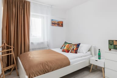 Climate bedroom for two provides privacy and comfort.