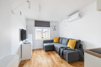 The living room creates a shared space with equipped kitchen. Ideal for...