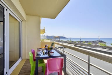 Charming two-bedroom with balcony facing the ocean in Anglet - Welkeys