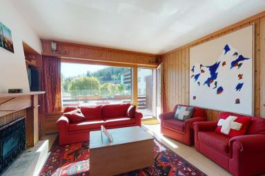 Bel appartement au centre de Crans-Montana avec un grand balcon