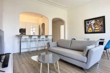 (103) Accès direct plage , 90 m2, 2 chambres, Balcon 26 m2, vue mer parking