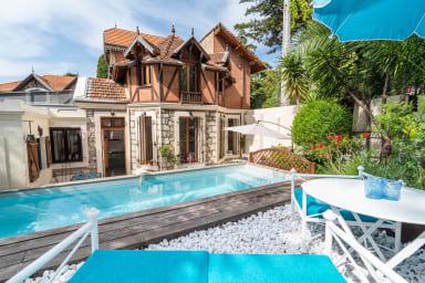 Cannes Centre à 5 mns : Villa 3 chambres piscine parking BBQ idéal vacances