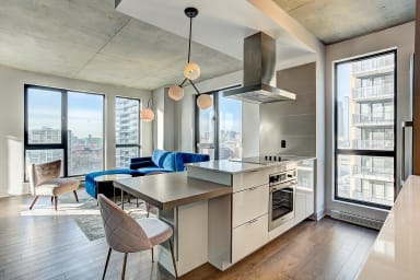 Typical Griffintown condo near Lachine Canal