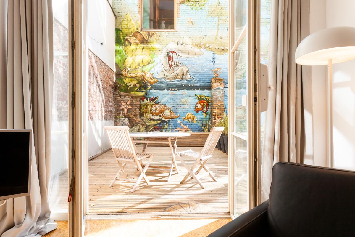 Sieben Oliven Apartment Mit Außenterrasse In Berlin Mitte Wedding