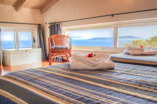 Well thought out design of the second bedroom with amazing view