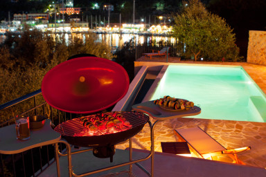 Outside barbecue grill for holiday gourmands