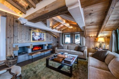 luxury ski holidays - Courchevel - Living room - Chalet Bastidons