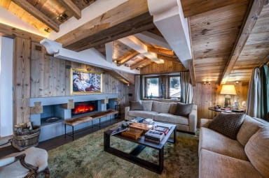 luxury ski holidays - Courchevel - Living room - Chalet Bastidons