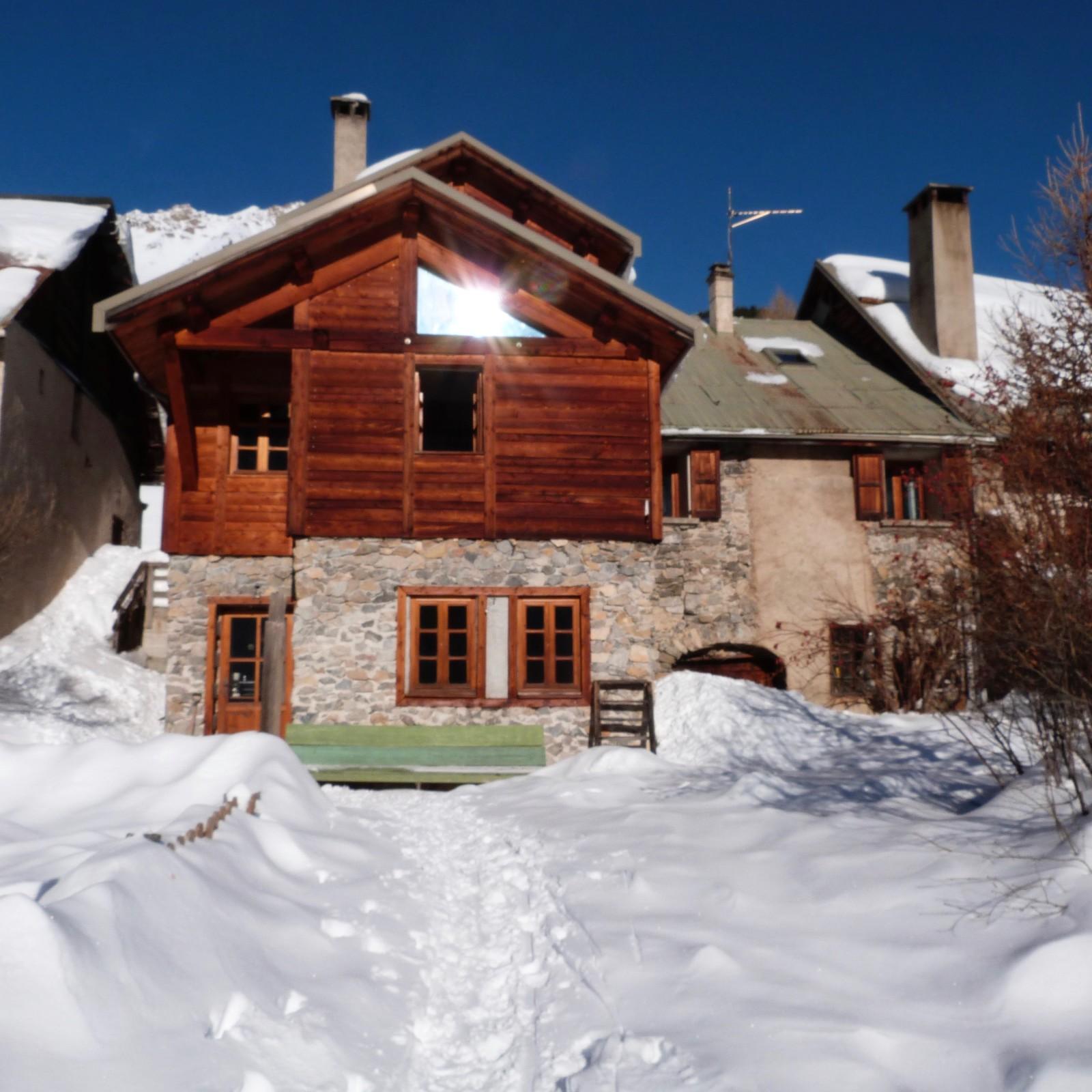 """Bideux Fran§oise La """"Mélézine"""" hameau de Sallé  Névache Hautes"""