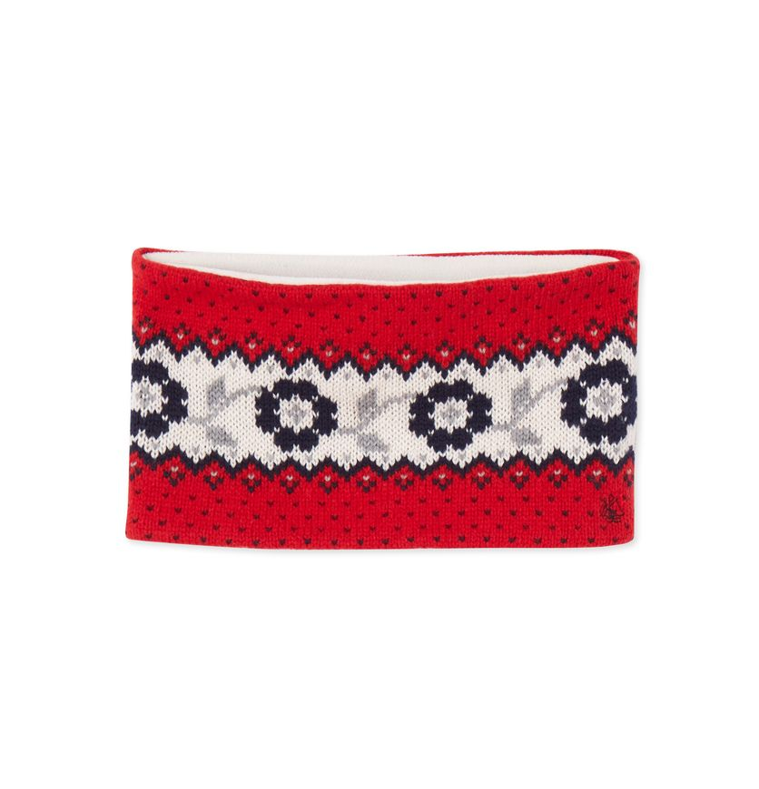 Girls' Jacquard knit snood