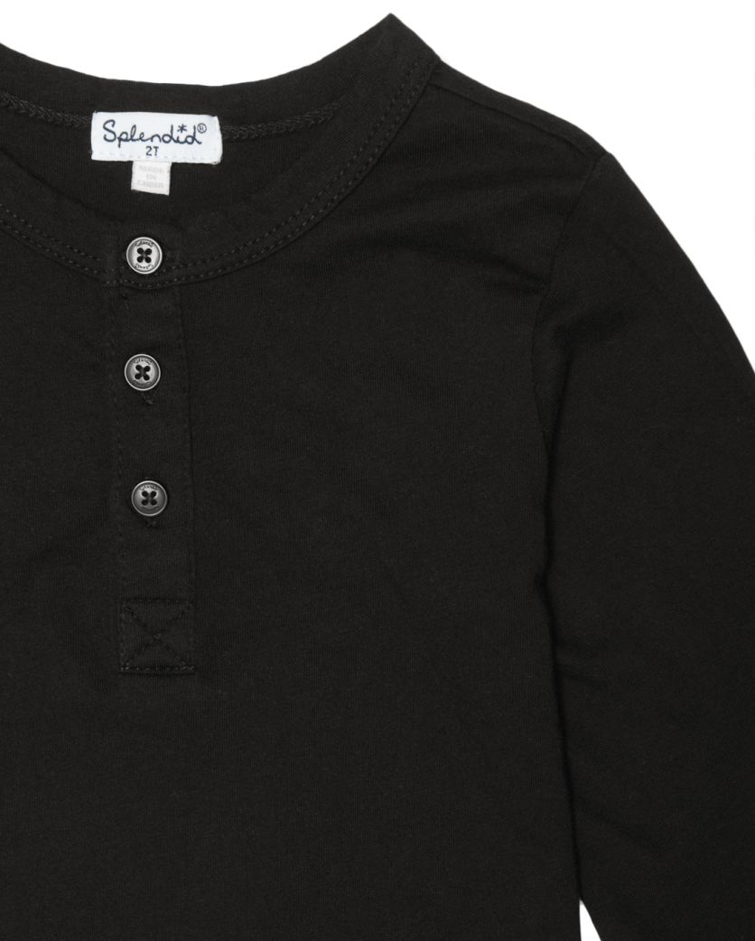 Little Boy Long Sleeve Henley