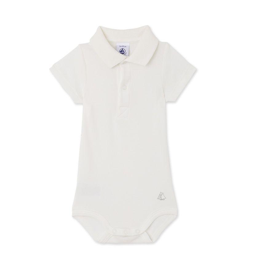 Baby boys' bodysuit with collar