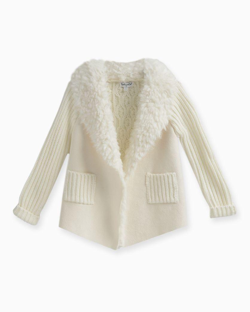 Little Girl Faux Suede Sweater