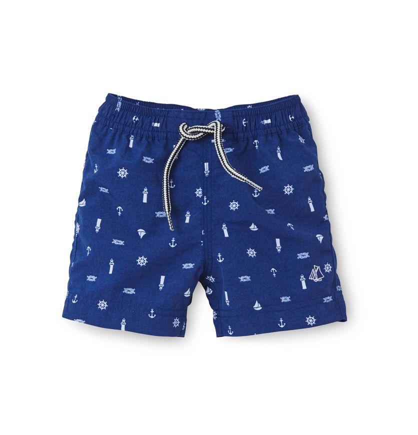 Baby boy's printed swim trunks