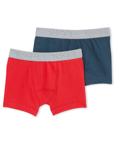 Set of 2 boy's Lycra jersey boxers