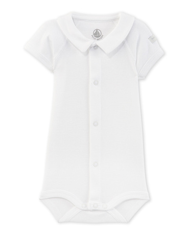 Newborn bodysuit with collar