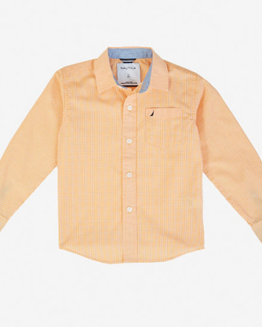 Boys' Gingham Button-Down Shirt (8-16)