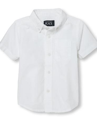 Toddler Boys Short Sleeve Oxford Button-Down Shirt