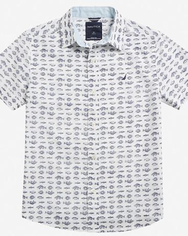 Boy's Fish Print Shirt (8-16)