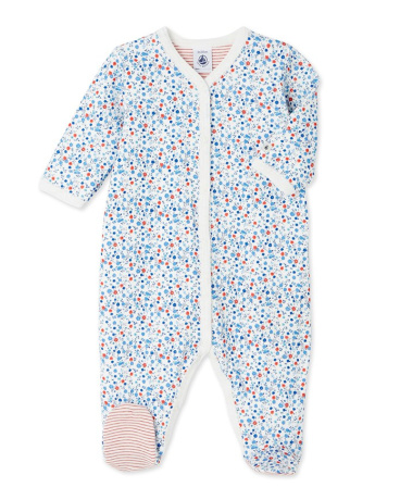 Baby girl's reversible sleeper
