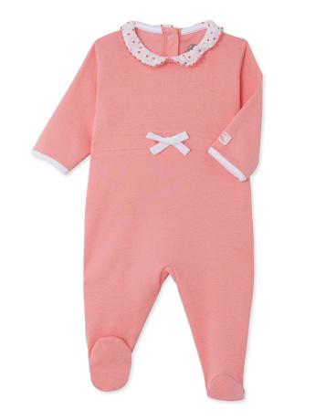 Baby girl sleepsuit with collar