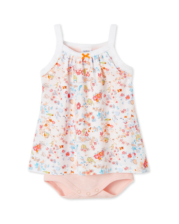 Baby girl bodysuit dress with straps