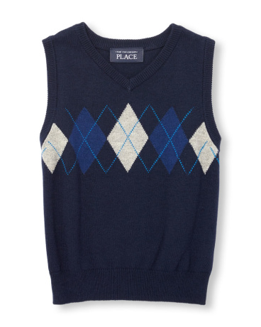 Toddler Boys Sleeveless Argyle Sweater Vest