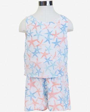 Little Girls' Starfish Romper (2T-7)