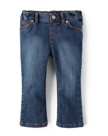 Baby And Toddler Girls Basic Bootcut Jeans - Victory Blue Wash