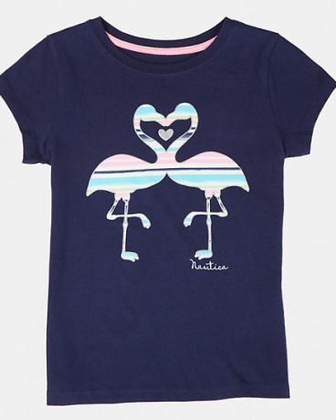 Little Girls' Flamingo Heart Tee (2T-7)