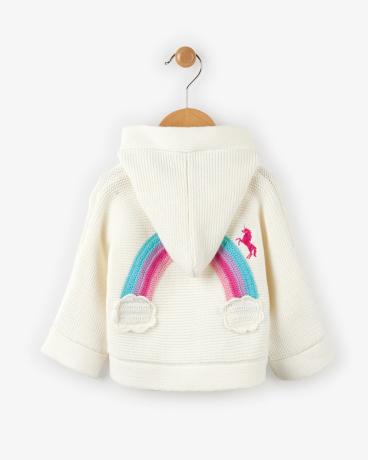 Chasing Rainbows Baby Duffle Sweater