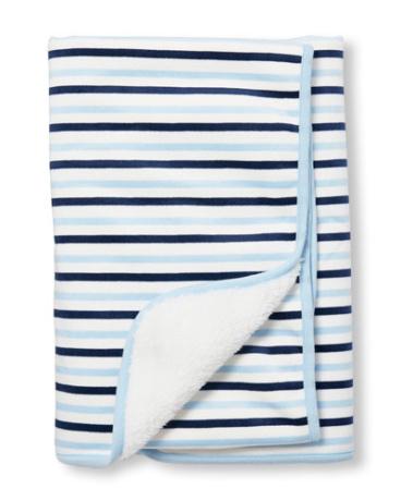 Baby Boys Layette Striped Cozy Blanket