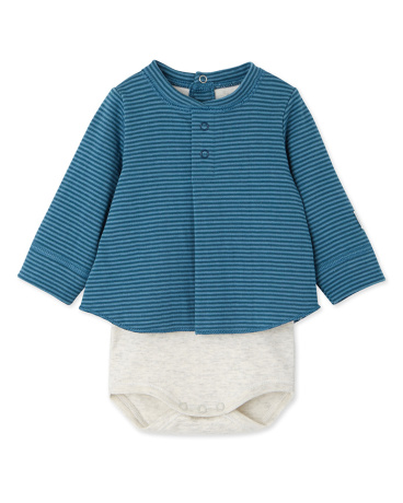 Baby boy's blouse bodysuit