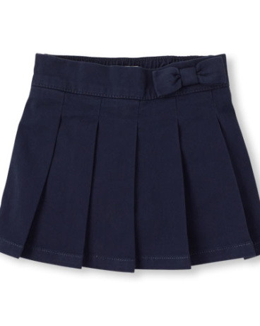 Toddler Girls Uniform Pleated Pull-On Skort