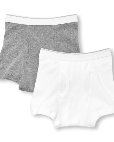 Boys Solid Boxer Briefs 2-Pack