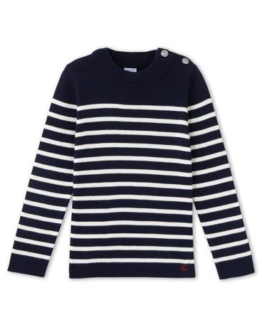 Boys' striped nautical jumper