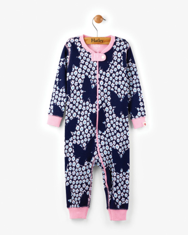 Butterflies & Buds Organic Cotton Baby Coverall