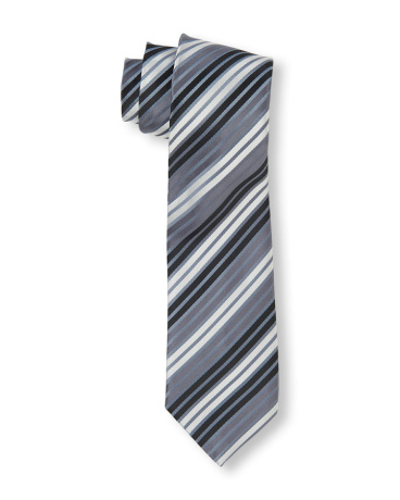 Boys Diagonal Striped Tie
