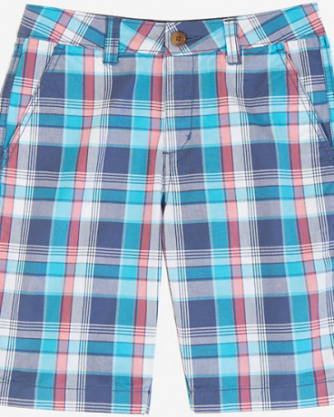 Little Boys' Blue Plaid Short (2T-7)