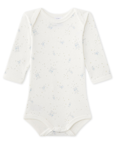 Baby boy's long-sleeved printed bodysuit