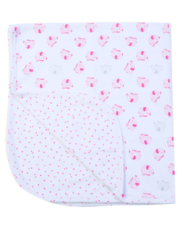 Reversible Elephant Jersey Blanket